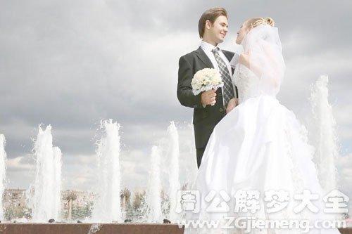 自己穿婚纱结婚了