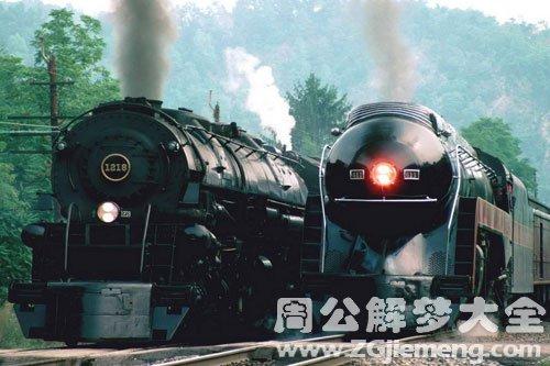 火车飞驰而过