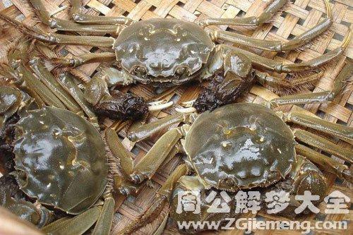梦见两只螃蟹